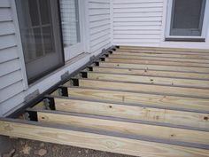 DIY deck building: How to waterproof wood framing using joist tape & c - Imus Industries, Inc. Cool Deck, Diy Deck, Diy Pergola, Pergola Ideas, Building Design Plan, Building A Deck, Laying Decking, How To Waterproof Wood, Deck Construction