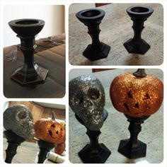 Dollar Store candle holder hack turned into pedestal (great for decorating)