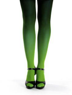 7b4c1ab403013 Green-black ombre tights by Virivee! Sheer toe tights, the fabric has the
