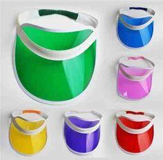 Pack of 12 #unisex sun visor poker hat golf neon pub stag 80s #dance #tennis cap…