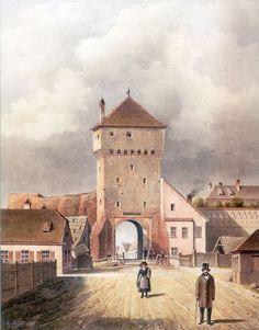 Johan Böbel: Poarta Elisabeta 1859 Things To Do, City, Painting, Things To Make, Painting Art, Cities, Paintings, Todo List, Drawings