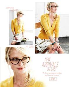 #yellow cardigan #polkadot skirt from @landsendcanvas