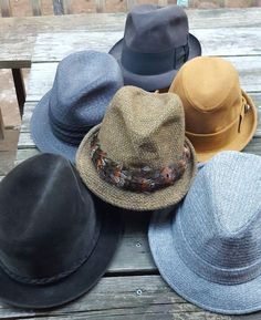 vintage mens hat lot of 6 fedora small retro mod hipster decor costume drama  #Fedora