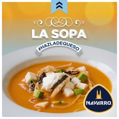 ¡La sopa es amor! Para esta temporada de frío nada como una deliciosa sopa con trozos de Queso Panela NAVARRO. ¿Ya lo intentaste?