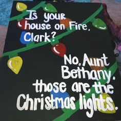 is your house on fire Clark? No Aunt Bethany those are the Christmas lights. National Lampoon's Christmas Vacation Movie 1989 the Griswold's Lampoon's Christmas Vacation, Office Christmas, Winter Christmas, Christmas Holidays, Christmas Lights, Christmas Lounge, Tacky Christmas, Christmas Parties, Christmas Christmas