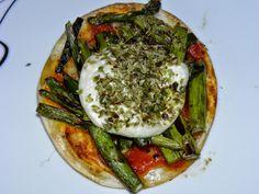 Minipizzas De Espárragos Verdes