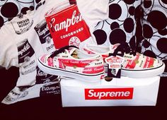 the soup is back on my sole menu.. soup(reme) campbell's soup vans x supreme 😁🍵👊🏻🔥