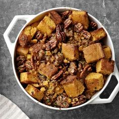 Buttermilk Cornbread Stuffing with Sausage  #Thanksgiving #Stuffing Turkey Stuffing Recipes, Sausage Recipes, Best Thanksgiving Recipes, Thanksgiving Stuffing, Thanksgiving Side Dishes, Holiday Recipes, Thanksgiving Dinners, Holiday Foods, Thanksgiving Holiday
