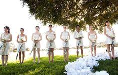 brides maid dresses for less