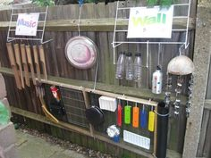 Outdoor musical instruments which can mostly be from recycling - kids will love it!
