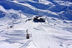 Wintersport am Nebelhorn in Oberstdorf im Allgäu