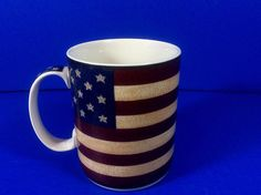 Liberty by Coventry Coffee Tea Mug Patriotic Stars Stripes Colonial4th of July  #Coventry