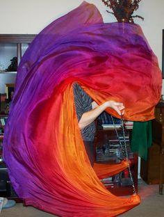 Sahariah's Silk Bellydance Veils Killer Tornado by SilksbySahariah, $90.00