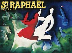 St. Raphaël - Quinquina - 1937 - illustration de Charles Loupot -