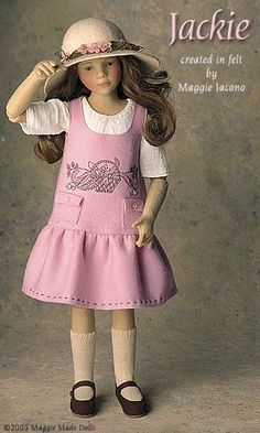 Jackie 16.5 Inch Tall Felt Doll Edition Size: 70 Created in 2002