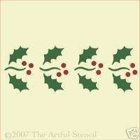 Celtic Stencils Damask | HOLLY BORDER STENCIL CHRISTMAS The Artful Stencil