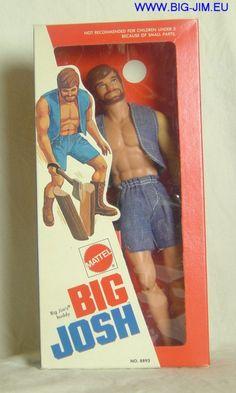 """Big Josh, """"Big Jim's Buddy,"""" 1970's. .I loved my Big Josh-doll..when I was a kid"""