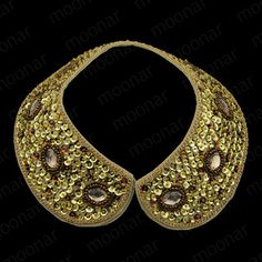 Sequin peter pan collar necklace.