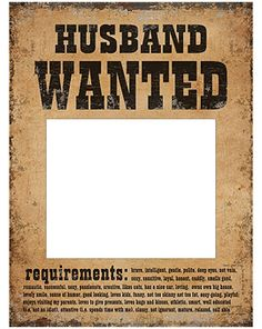Lot 1 Pancarte Husband Wanted et 1 Pancarte Wife Wanted - Dignes des plus grands…
