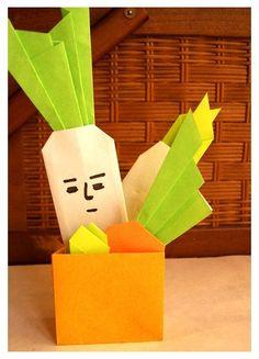 Origami: Aokubi Daikon あおくび大根