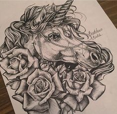Unicorn for a thigh piece.