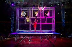 Circus Show, Circus Acts, Stage Show, Trampolines, Gymnasts, Scaffolding, Rebounding, Cabaret, Twists