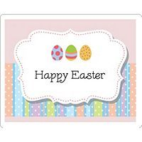 Free Avery® Templates - Easter Egg Stripes Print-to-the-Edge Pearlized Rectangle Labels, 6 per sheet