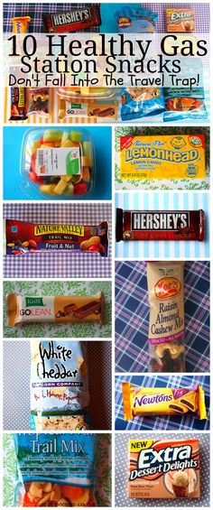 10 Healthy Gas Station Snacks! Don't Fall Into The Travel Trap! Click to read more!