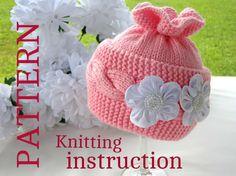 Knit Baby Hat P A T T E R N Baby Hat Baby Patterns ♡ by Solnishko43