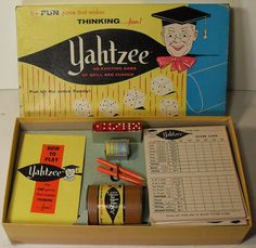Yahtzee 1950s Board Game — still have Yahtzee and play once in a while (it's how I learned to play Poker!)