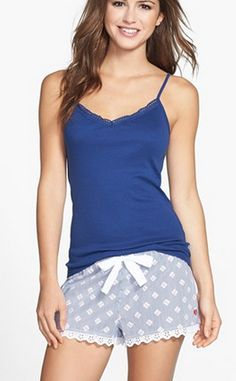 Super cute pj shorts. too bad i always wear baggy t-shirts to bed...