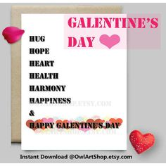 Happy Galentine's Day printable card, Black White with red and pink... (€4,05) via Polyvore featuring home, home decor, stationery and vintage magazine