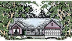 <!-- Generated by XStandard version 2.0.0.0 on 2010-08-10T11:24:15 --><ul><li>A covered front porch adds charm to this comfortable ranch home plan with split bedrooms.</li><li>The spacious master suite has two walk-in closets and its own bath with jetted tub.</li><li>Dine in the cheerful eating area set in a bay with views of the front of your lot.</li><li>A 10' ceiling crowns the great room with a fireplace as a focal p...