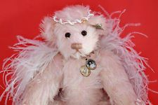 Mint With Tag And Crystal Angel Mini Bear Annette Funicello White Angel Bear Dolls & Bears