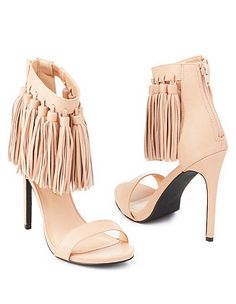 Privileged Fringed Ankle Cuff Dress Sandals: Charlotte Russe