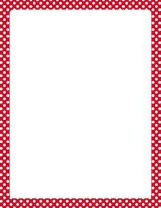 Red and White Polka Dot Border