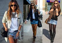 Como usar saia jeans - curtas - meia estação