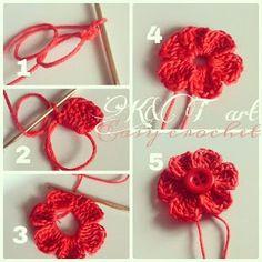 Easy crochet: Flowers