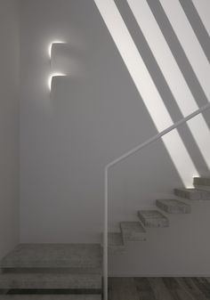 Point #led module LEAF by Buzzi & Buzzi | #design Andrea Sensoli #interiors #minimal #white #staircase