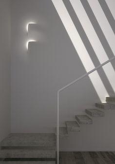 Point #led module LEAF by Buzzi & Buzzi | #design Andrea Sensoli #interiors #minimal #white #staircase