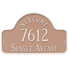 Montague Metal Products Welcome Arch Large Address Plaque Finish: Black/Copper
