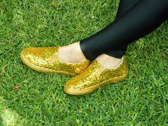 Decorar zapatos de dama con lentejuelas - Moldes Para Manualidades