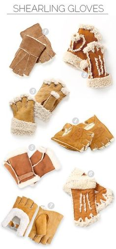 Obsessed With: Shearling Gloves via Plant Propaganda