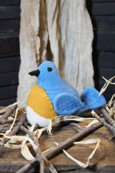 COTTONWOOD CREATIONS. ROBIN & BLUEBIRD. 4in Wool bird Pattern contains instructions for Robin and Bluebird. SEWING PATTERN.   eBay!