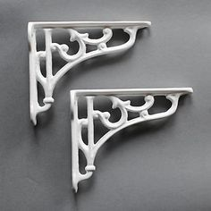 Victorian Scroll Small Brackets - http://www.yesterhome.com/collections/small-brackets/products/cast-iron-bracket-victorian-scroll-small
