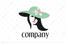 Logo for sale: Lady In A Green Hat Logo