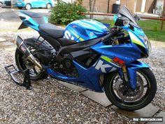 Suzuki GSXR 750 2015 MotoGP colours with full Yoshimura accessory kit Gsxr 750, Used Motorcycles, Motorbikes, Yamaha, Honda, Colours, Kit, Cars, Autos