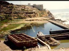Remains of Sutro Baths in San Francisco. Historical Landmark.