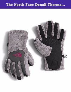 The North Face Denali Thermal Etip Glove Girls' Metallic Silver Medium. The classic Denali Thermal Etip Glove offers an improved fit and a touchscreen-compatible UIR Powered palm for cold weather functionality. High-loft fleece insulates her hands while the girl-specific 5 Dimensional Fit ensures proper finger articulation and consistent sizing. There is also a nylon Taslan overlay for added durability and a silicone gripper palm for superior grip. Features: Pull Tab on Cuff Removable…