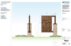 Gateway Signage Unveiling Ceremony and Holiday Benefit Monument Signage, Park Signage, Signage Design, Layout Design, Mayor Tom, Bamboo Design, Entrance Gates, Gate Design, Environmental Graphics